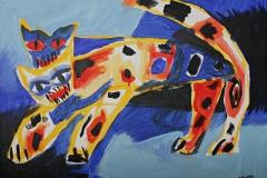 0237, Tigerspaltung, 1991, 65x50 cm, Acryl / Leinwand