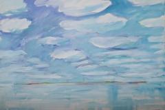 0284, Wasser Wellen, 1992, 80x60 cm, Acryl / Leinwand