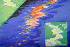 0285, Wasser-Teilung, 1992, 80x60 cm, Acryl / Leinwand