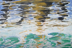 0286, Wasser Spiegelungen, 1991, 80x60 cm, Acryl / Leinwand