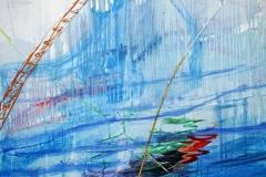 0287, Wasserreflektionen, 1991, 100,5x140,5 cm, Acryl / Karton