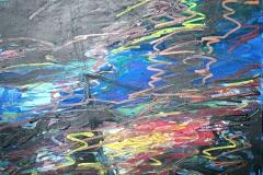 0289, Wasser bunt, 1986, 73x58 cm, Acryl / Hartfaserplatte
