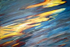 0305, Wellen in der Sonne, 1992, 130x100 cm, Acryl / Leinwand