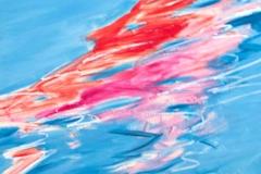 0311, Wasser rot/spiegelung, 1987, 78x100 cm, Acryl / Leinwand
