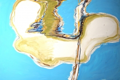 0315, Spiegelung, 140x99 cm, Acryl / Hartfaserplatte