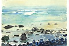 10515, kleine Felsen, 1992, Aquarell/Papier, 30x40 cm