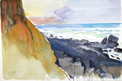 10533, Wasser, 1992, Aquarell/Papier, 38,5x56,5 cm