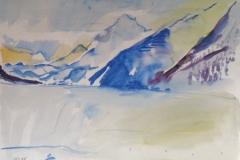 1011, Am Achensee, Aquarell, 75,5 x 56,5 cm