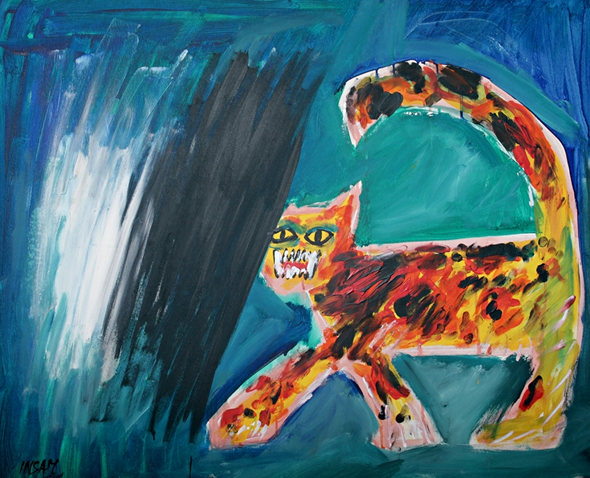 0231, Katze, 100x80 cm,  Acryl / Leinwand