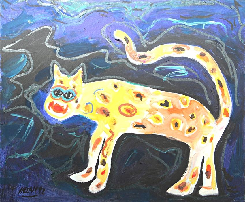 0241, Leopard, 1992, 60x50 cm, Acryl / Leinwand