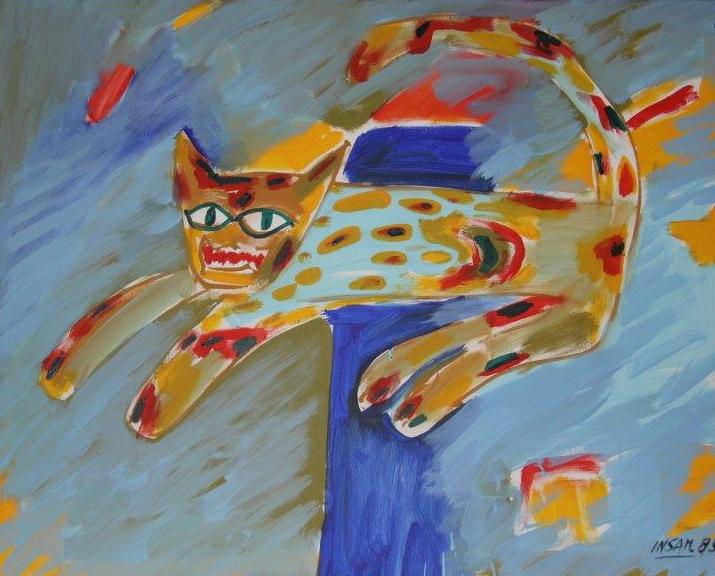 0272, Tiger, Acryl / Hartfaserplatte