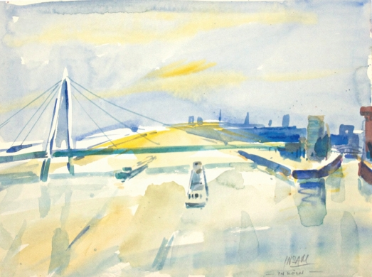 10500, In Köln, Aquarell, 36x48 cm