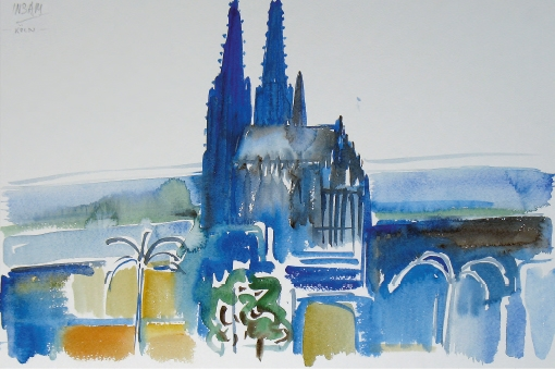 816, Köln, 1986, Aquarell, 56,5 x 38 cm