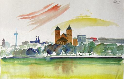 821, Berlin, Aquarell, 56,5 x 38 cm