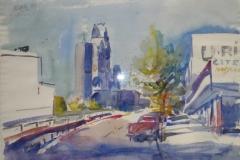 830, Berlin, Aquarell, 1986, 56,5x39 cm