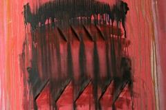 0616, rosa Schnittbild, 1978, 85x100 cm, Acryl / Leinwand