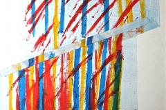 0635, Streifen, 1976, 98x84 cm, Acryl / Leinwand