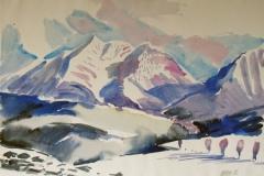 1103, Bei Fieberbrunn, 1986, Aquarell, 61 x 43 cm