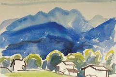 1386, Bei Fieberbrunn, 1986, Aquarell, 48 x 36 cm