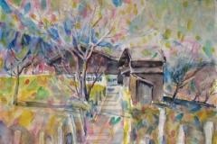 11392, Fieberbrunn, 1986, Aquarell, 40 x 30 cm