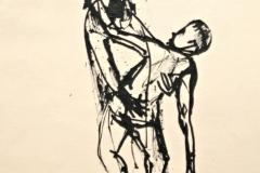 12014, Figurentanz, Tusche/Papier, 28,5x19 cm