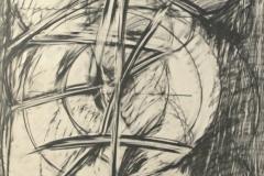 12323, Figur, Kohle/Papier, 1975, 85,5x62,5 cm