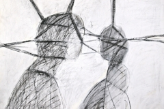 12401, Figur, Kohle/Papier, 1975, 65x85 cm