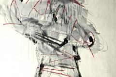 0113, Franz Klammer, Hahnenkammrennen, 130x100 cm, Acryl / Papier auf Hartfaserplatte