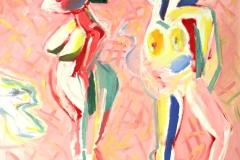 0116, Figur Frauenkörper, 1993, 80x100 cm, Acryl / Leinwand