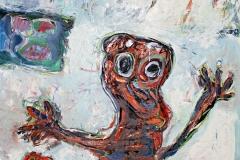 0374, Der Wichtigtuer, 1983, 100x140 cm, Acryl / Leinwand