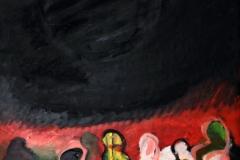 0453, Nächtliche Wanderung, 1974, 60x74,5 cm, Acryl / Weichfaserplatte