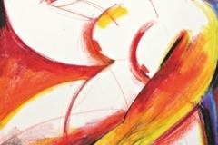 15138, Akt, Wachskreiden/Papier, 61x43 cm