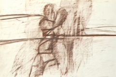 15628, Figur, Wachskreiden/Papier, 60x44 cm