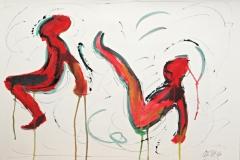 12151, Breakdance, Aquarell/Papier, 38x54 cm