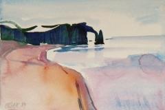 601, Am Atlantik, 1989, Aquarell, 38,5 x 28 cm