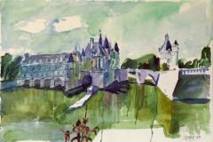 610, Frankreich, 1989, Aquarell, 56 x 38 cm