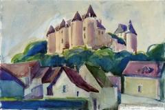 637, Luynes, 1989, Aquarell, 56 x 38 cm