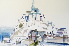 648, Monte-Saint-Michel, 1989, Aquarell, 56 x 38 cm