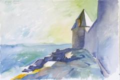658, Lomener, 1989, Aquarell, 56,5 x 38 cm