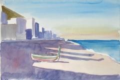 683, Cote D'Azur, 1994, Aquarell, 56,5 x 38 cm