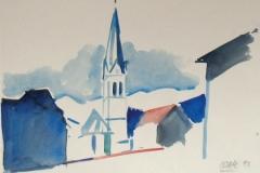 1116, Imst, 1993, Aquarell, 38 x 28 cm
