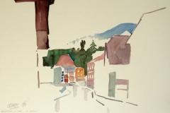 1454, Imst, Kramer Gasse, 1994, Aquarell, 56 x 38 cm