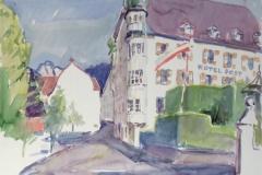 1506, Imst, Hotel Post, Aquarell, 56 x 38 cm