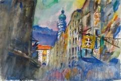 1164, Innsbruck, 1983, Aquarell, 56,5 x 38,5 cm