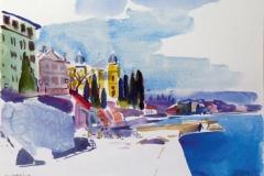 712, Opatija, 1985, Aquarell, 38 x 28 cm