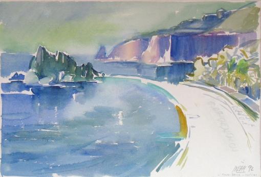5070, Isola Bella, 1992, Aquarell, 56,5 x 38 cm