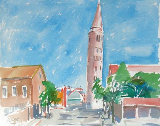 5107, Bei Cerva, 2005, Aquarell, 56 x 38,3 cm