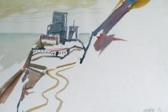 2040, Sarazenen, 1992, Aquarell, 48 x 33 cm