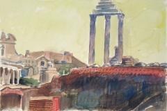 5110, Rom, Forum Romanum, 2001, Aquarell, 50,5 x 35,5 cm