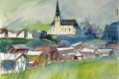 1282, Kirchberg, 1989, Aquarell, 50 x 40 cm